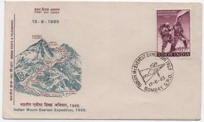 INDIA: 1965 Example on Indian Mount Everest First Day Cover - Bombay (11753)