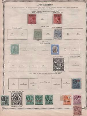 MONTSERRAT/MAURITIUS: 1876-1913 - Ex-Old Time Collection - 2 Sides Page (12700)