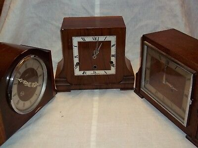 job lot (3) mantle clocks spares repairs enfield/haller/german