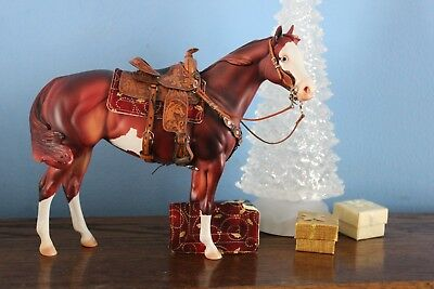 Breyer Peter Stone Western cut out Christmas Holly Print Saddle pad only