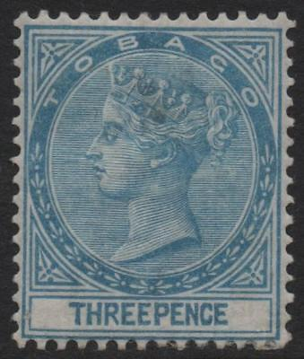 TOBAGO: 1879 - Sg 2 - 3d Blue Mounted Mint Example - Cat 140 (12442)