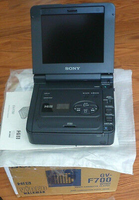 "Sony GV-F700 Hi8 Video8 8mm Video 8 Video Walkman 5.5"" LCD VCP Deck Player LNIB"