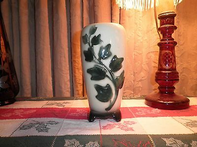 Vintage Beautiful Royal Copley 8-inch Ivy Pattern Footed Vase