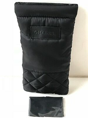 Chanel Sunglass Case 100% Auth-New Not Used-Nylon Soft Pouch & Cleaning Cloth