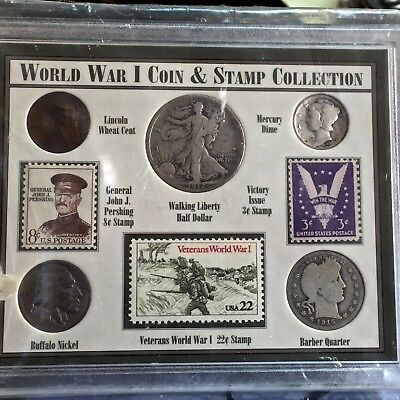 WWI World War I Coin And Stamp Collection American Historic Society
