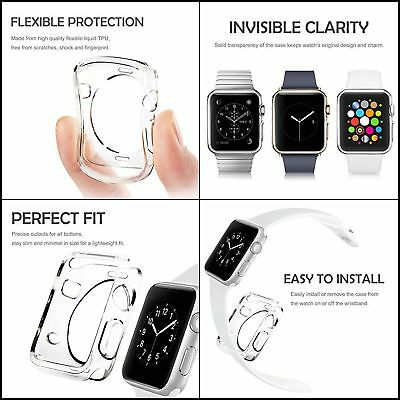 42mm Apple Watch Series 1 Case Cover Insten Soft TPU Candy Skin Thin Anti-Shock