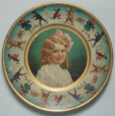 Very Pretty 1907 Union Pacific Tea Co Advertising Tray Grreat Graphics Near Mint