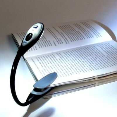 Portable LED Book Light Flexible Neck Clamp Clip clip-on Travel Reading Lamp