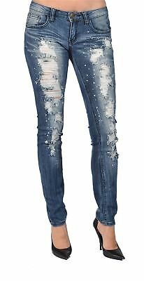 New Machine Jeans Juniors Skinny Destroyed Dark Distressed Denim Pants Size 0-13