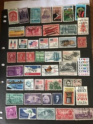 stamps  USA - Used - Lot 233