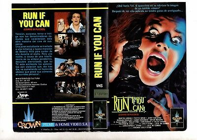 vhs orig CORRE SI PUEDES Run If You Can (1988) Virginia L. Stone / Martin Landau