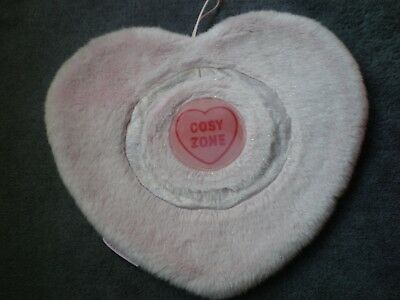 Cute Boots Pink Faux Fur Large Love Hearts Hot Water Bottle Cover/cushion