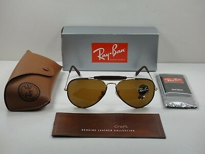 762ccf9011 Ray-Ban Outdoorsman Craft Sunglasses Rb3422Q 9041 Brown brown Classic Lens  58Mm