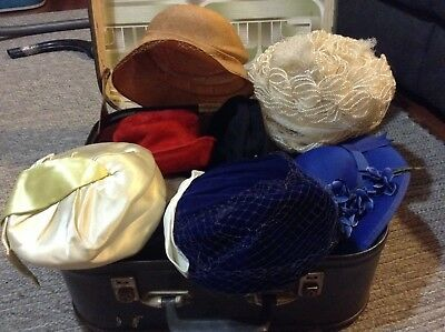 Collection Of Vintage Hats.
