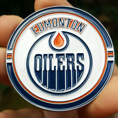 PREMIUM NHL Edmonton Oilers Poker Card Guard Collector Coin Golf Marker