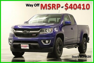 2017 Chevrolet Colorado MSRP$40410 4X4 GPS Laser Blue Metallic Ext 4WD New Heated Seats Navigation Camera Extended Cab Bluetooth Mylink 16 2016 17