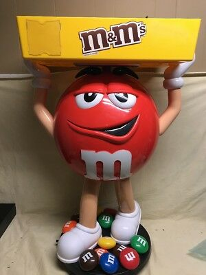 M&M's  Character Red Store Display 3 foot candy home theatre prop play tv party