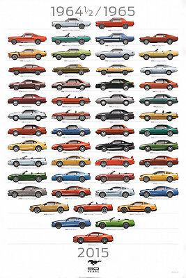 2015 Ford Mustang 50th Anniversary Dealer Poster NEW 24x36 - Free Shipping
