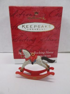 Hallmark Collectors Club Miniature Rocking Horse 2001 Christmas ornament MIB