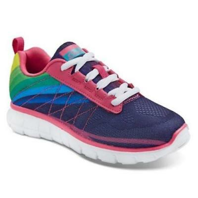 New Girls' S Sport Designed By Skechers Unbroken Rainbow Athletic Shoes  Size 4