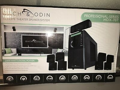 Bach & Odin Hdx-707 Professional Series 5.1 Home Theater System Brand New In Box