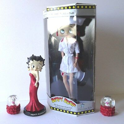Vintage Classic Betty Boop Figurines Collection 4 piece group, free shipping