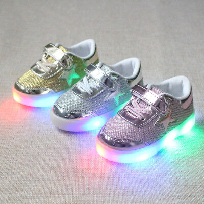 Kids Boys Girls Sport Shoes LED Light Up Luminous Trainers Children Sneakers