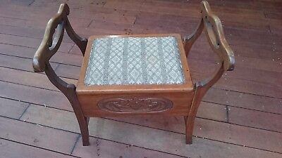 Piano Stool Vintage Old