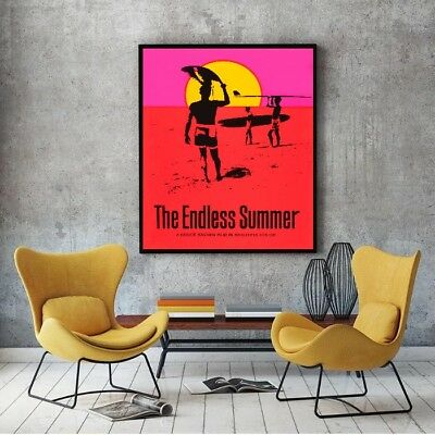 "Large Size 24""x32"" The Endless Summer Poster - Bruce Brown's 1966 Surfing Film"