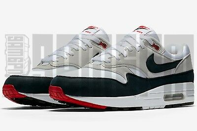 Details about Nike AIR MAX 1 ANNIVERSARY 7 8 9 10 11 12 13 WHITE RED am1 87 tier 0 am87 qs og