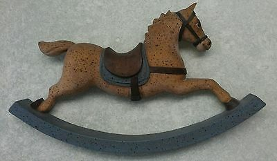 Rocking Horse Country Nursery Wall Hanging Wood Sign - Vintage 1983