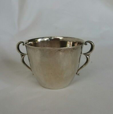 Georg Jensen Denmark Antique Sterling Silver Two Handle Cup 373A