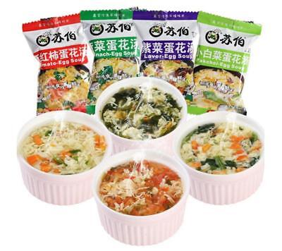 Yummy Chinese Instant vegetable Soup Different tastes Fast Food New Delicious