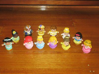 Little People Disney Princess Characters (12) - Excellent Condition