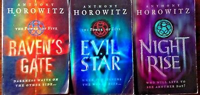 3 x HOROWITZ, ANTHONY - THE POWER OF FIVE: RAVEN'S/EVIL STAR/NIGHT RISE Bulk pbs