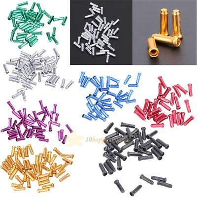 50pcs Aluminum Brake Shifter Inner Cable Tip Wire End Cap Crimp For Bike Bicycle