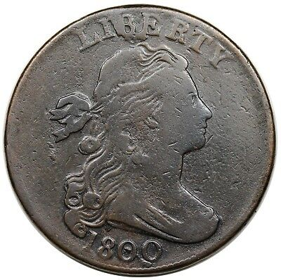 1800 Draped Bust Large Cent, S-197, F