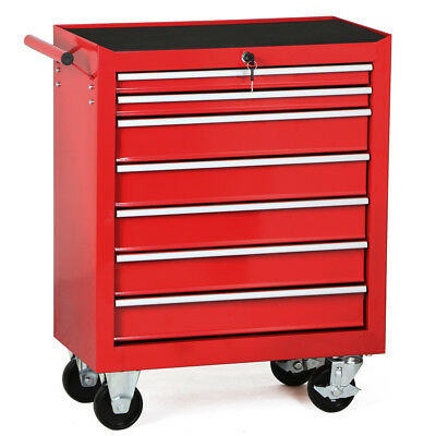 7 Drawers Rolling Mechanic Tool Box Cart Cabinet Garage Toolbox Chest Trolley