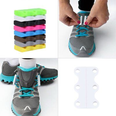 Novelty Magnetic Casual Sneaker Shoe Buckles Closure No-Tie Shoelace New TL