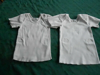 2 Antique Baby Undershirts, Carter's, Size 1 1/2 Years, Circa 1940
