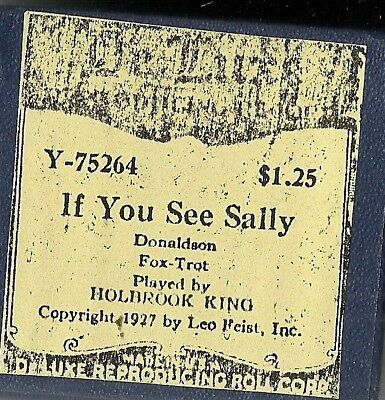 If You See Sally, played by Holbrook King DeLuxe Y-75264 Piano Roll recut