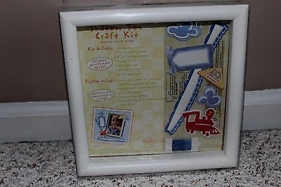 Carters Shadowbox Craft Kit for Boys: Frame, Tags, Ribbon, Paper, Embellishments