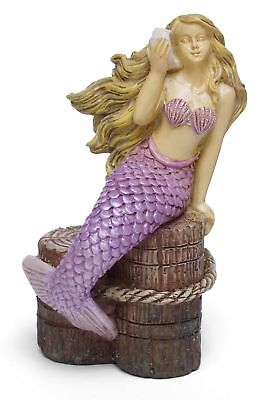 "3.25"" My Fairy Gardens Mini Mermaid Figure - ""Listening to the Ocean"" Figurine"