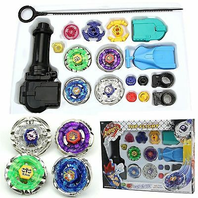 Hot 4D Fusion Top Metal Master Rapidity Fight Rare Beyblade Launcher Grip Set SX