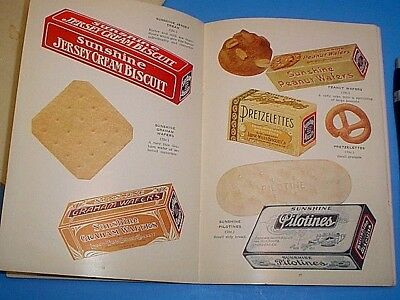 VINTAGE EARLY 1900's SUNSHINE BISCUITS PRODUCTS CATALOG 45 COLOR PAGES