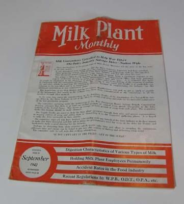 Milk Plant Monthly September 1942