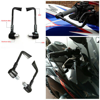 "Black ABS 22MM 7/8"" Brake Clutch Lever Protector Guard Handguard For Motorcycle"