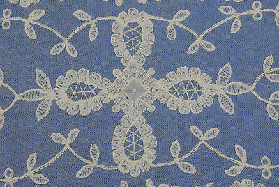 "Antique Vintage French Alencon Lace Table Runner 44"" by 17"""