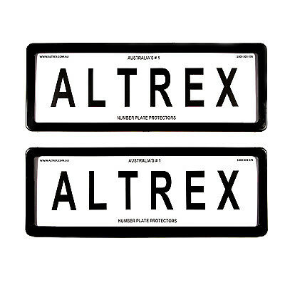 6 figure Number Plate Covers Standard Black without Lines Altrex 6ST
