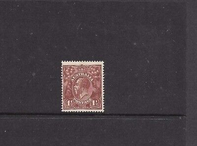 STAMPS AUST KGV  1.5d RED BROWN SINGLE WMK MLH